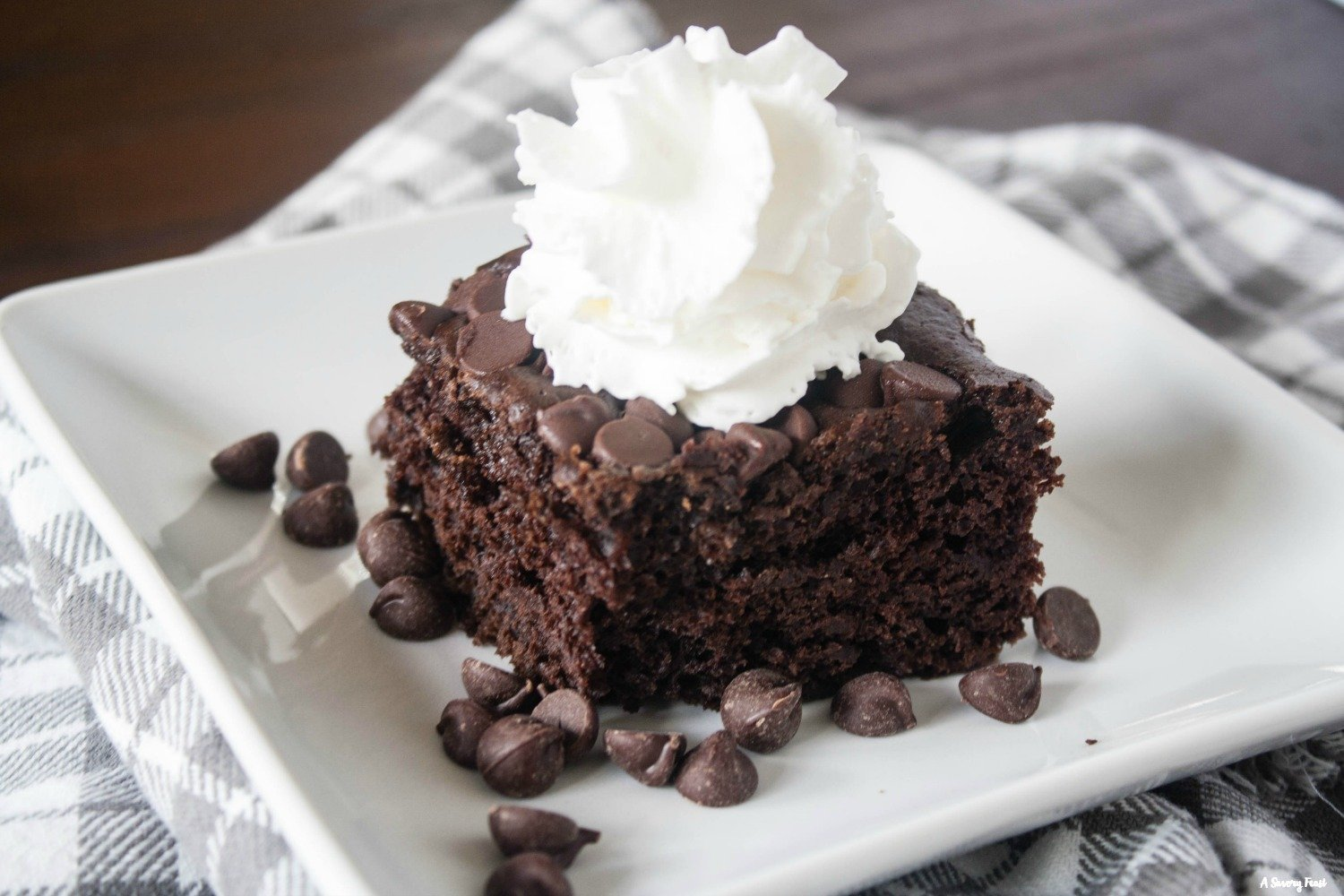 You won't believe how easy it is to make this rich chocolate cake!