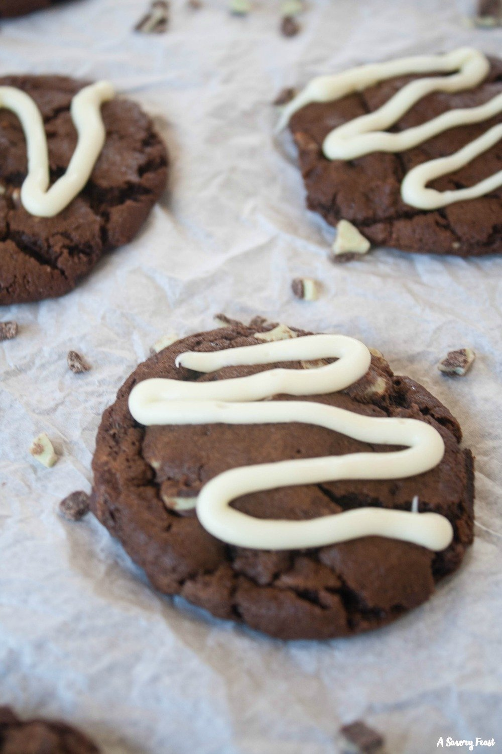 Kick off your holiday baking with these pretty Andes Mint Chocolate Cookies.