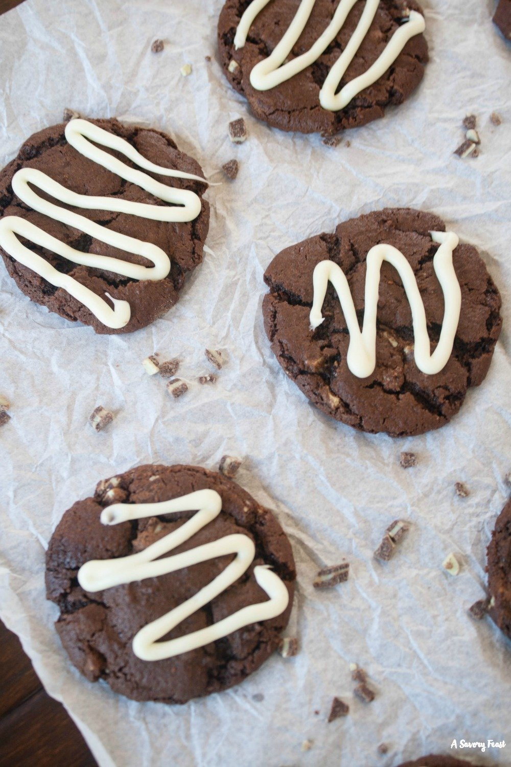 Chocolate and mint are the perfect pair in this cookie recipe! Try these Andes Mint Chocolate Cookies this holiday season.