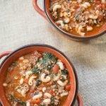 Beef, Tomato and Macaroni Soup