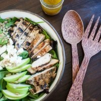 Grilled Chicken and Apple Salad with Homemade Apple Vinegarette