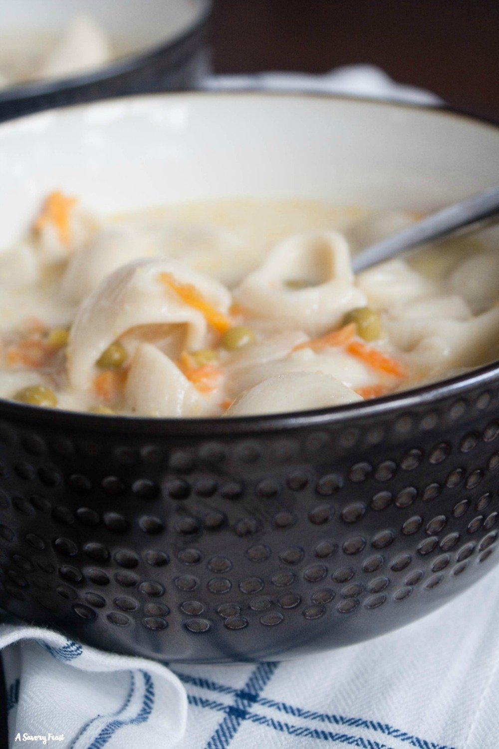 Have a bowl of this Creamy Chicken Noodle Soup for dinner tonight.
