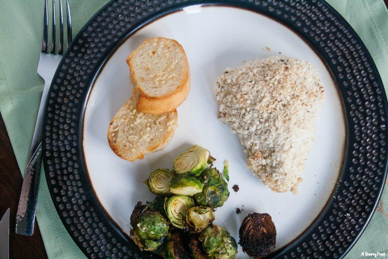 Easy 30 minute dinner recipe: Greek Yogurt Parmesan Crusted Chicken