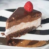 Raspberry Chocolate Mousse Cake with Mirror Glaze