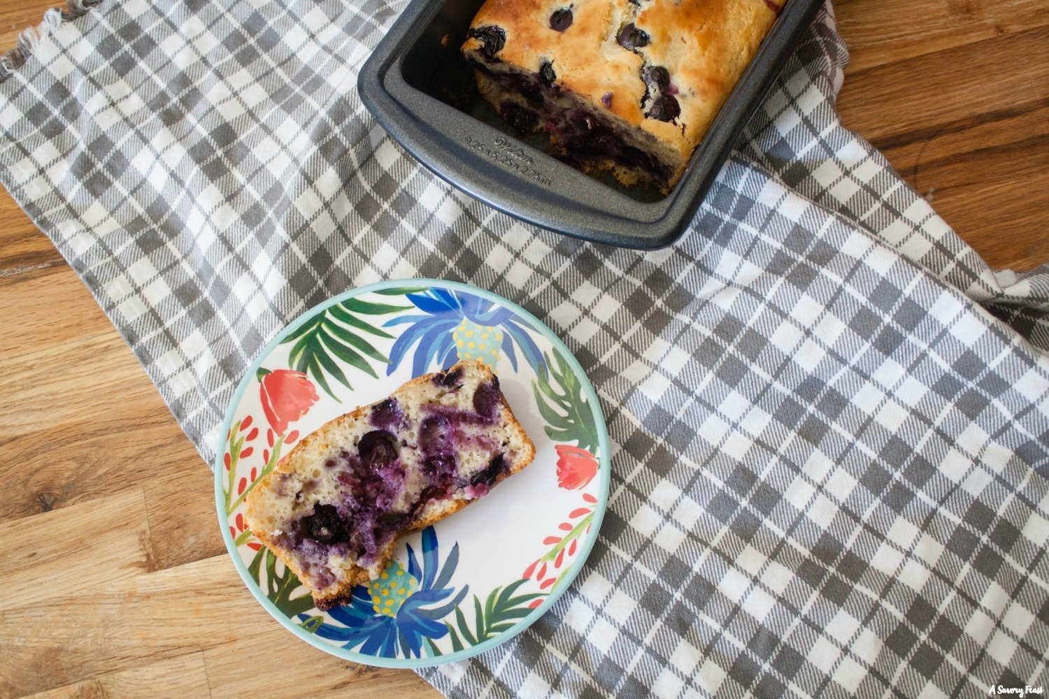 Greek Yogurt Blueberry Bread sweetened with honey