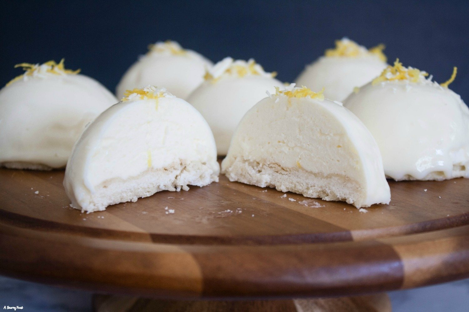 Mini Lemon Mousse Cakes