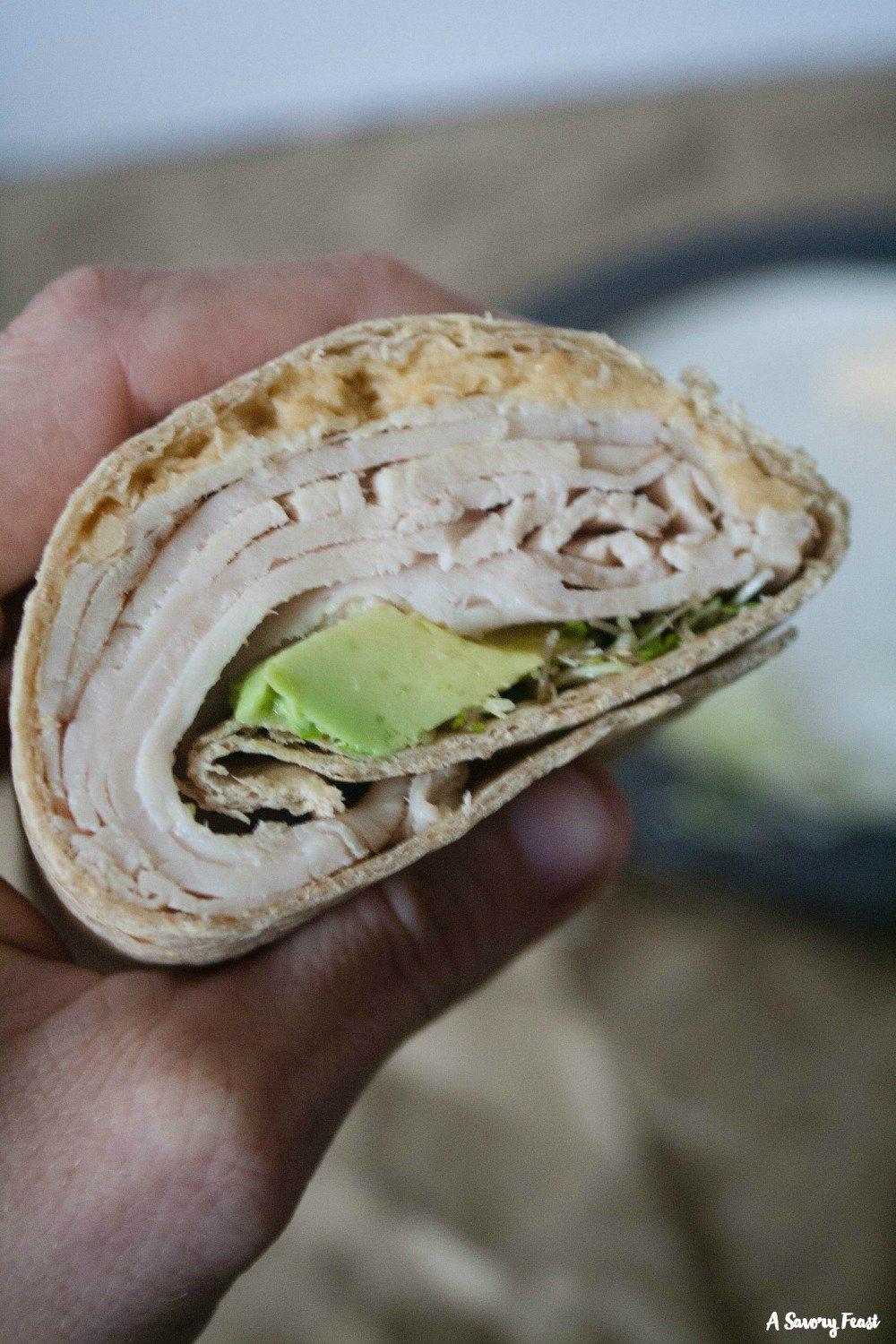 Pack something new for lunch today! Turkey & Hummus Wraps.