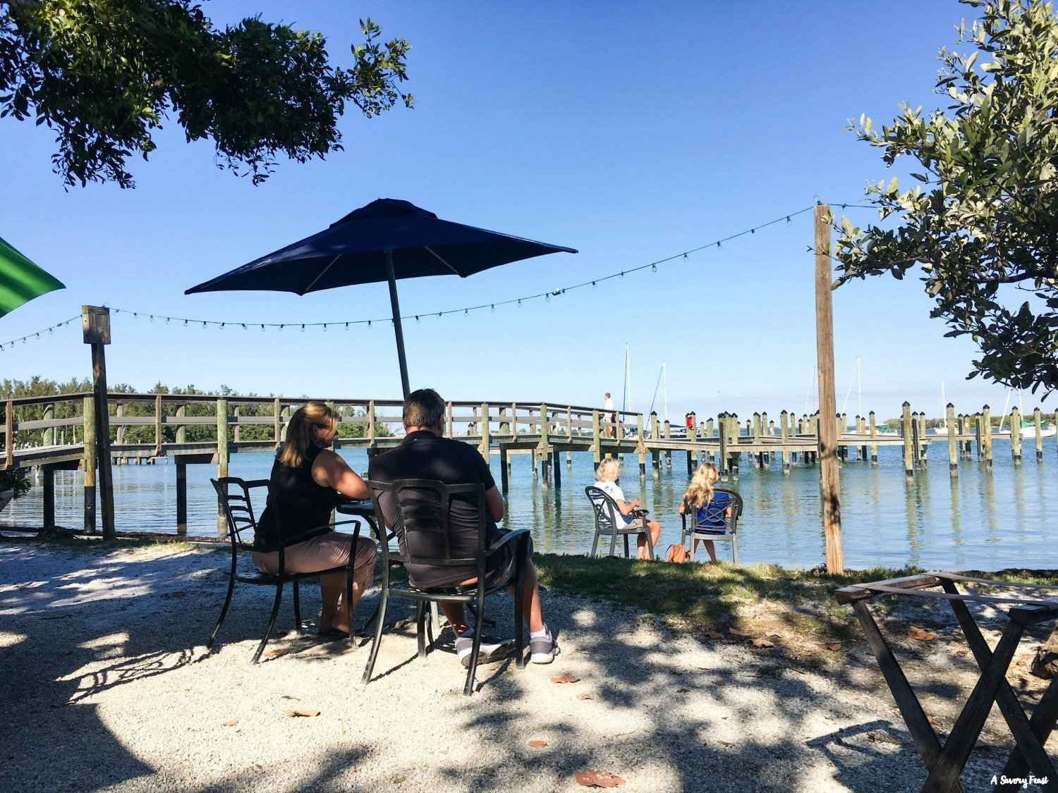 Waterside dining at Mar Vista in Longboat Key, Florida