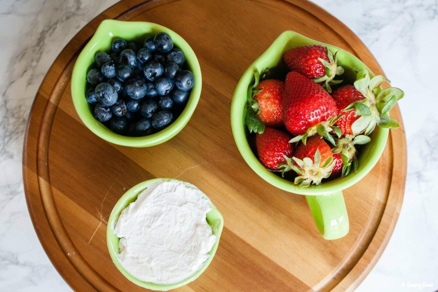 Strawberry and Blueberry dessert idea