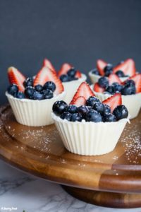 Berry White Chocolate Cups with Mascarpone Cream