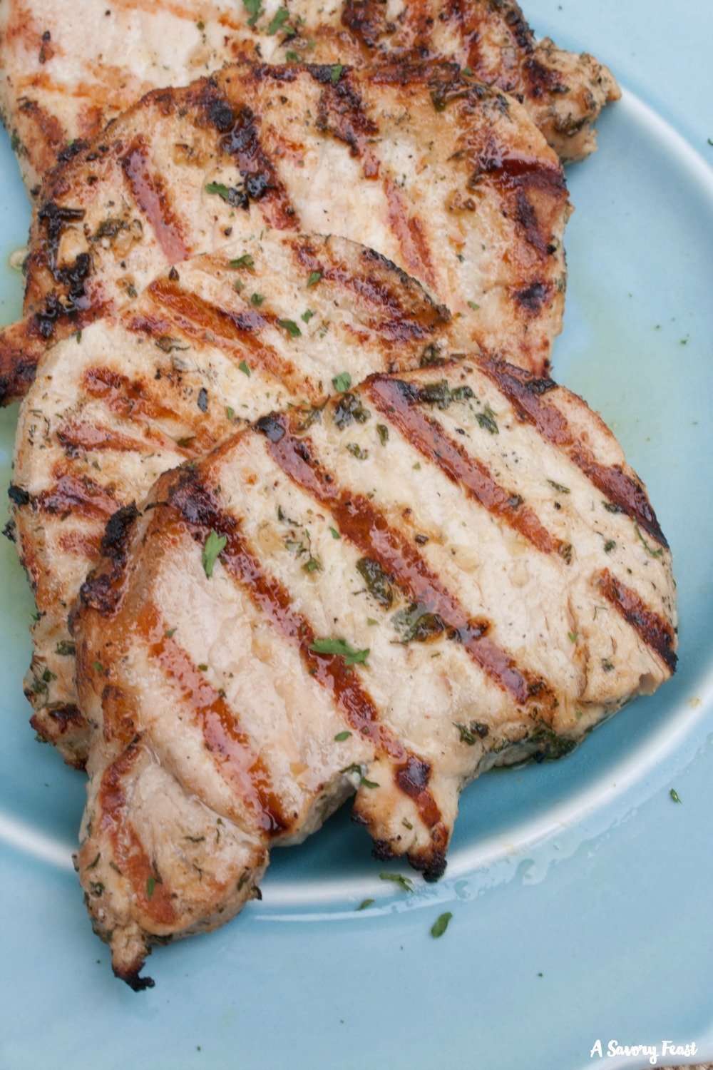 Easy summer meal idea: Ranch Grilled Pork Chops