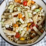 Summer Tomato and Avocado Pasta Salad