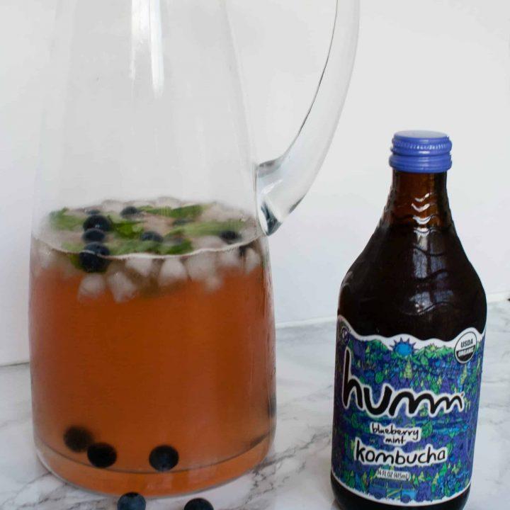 Blueberry Mint Kombucha Sangria
