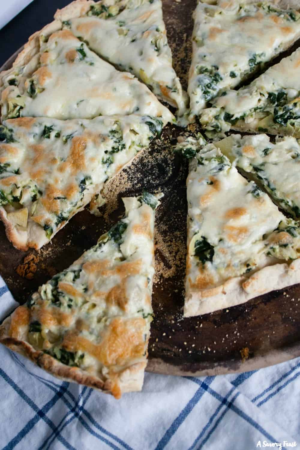 Chicken, Spinach and Artichoke Pizza recipe