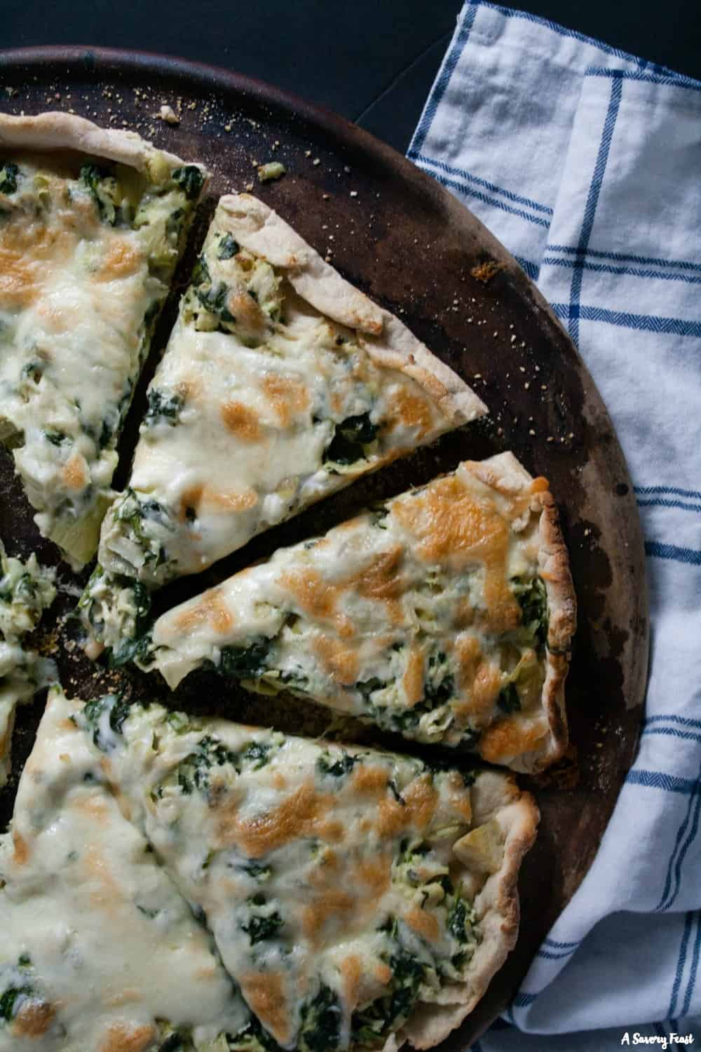 Chicken, Spinach and Artichoke Pizza