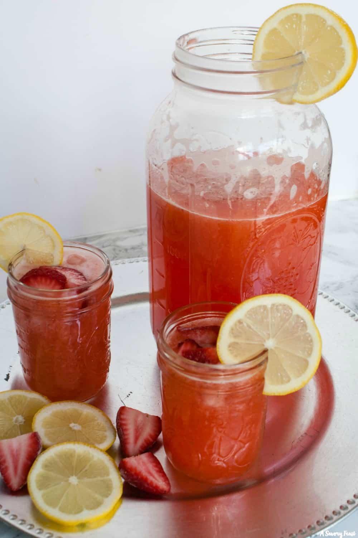 Honey-Sweetened Strawberry Lemonade