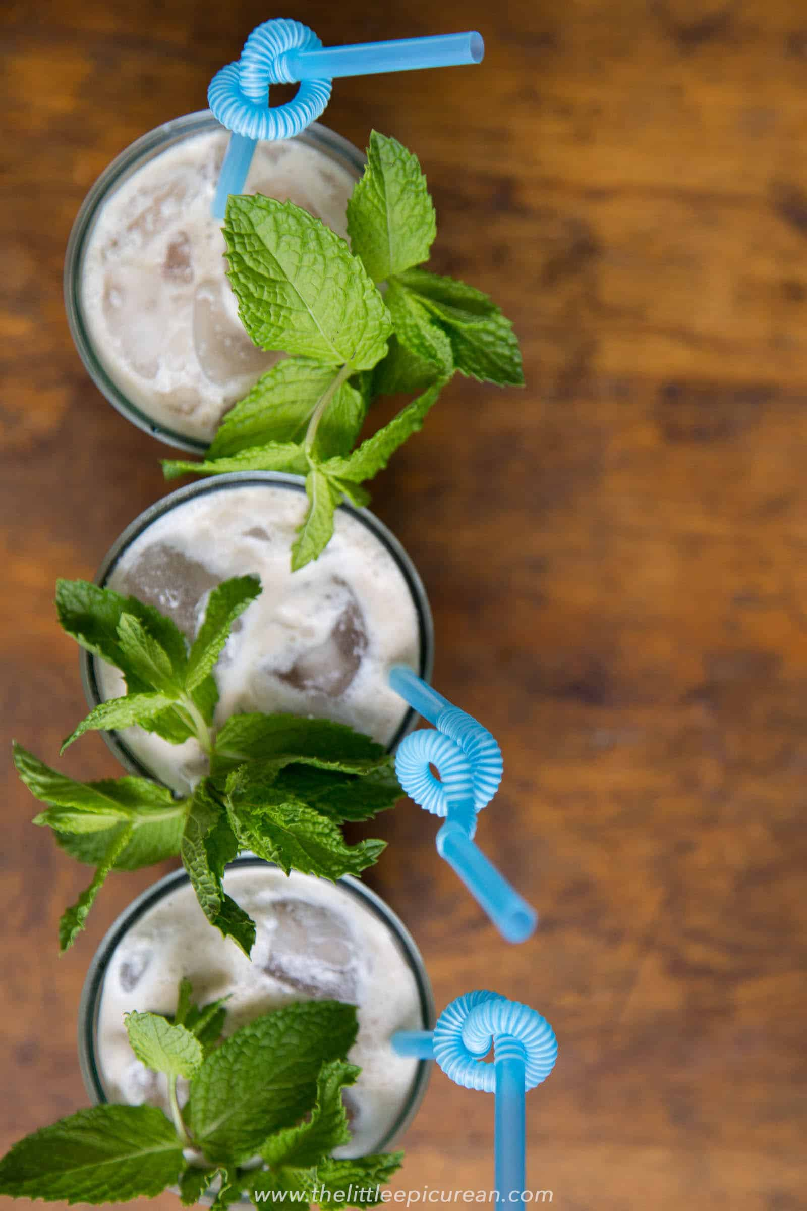 Mint Mojito Iced Coffee from The Little Epicurean