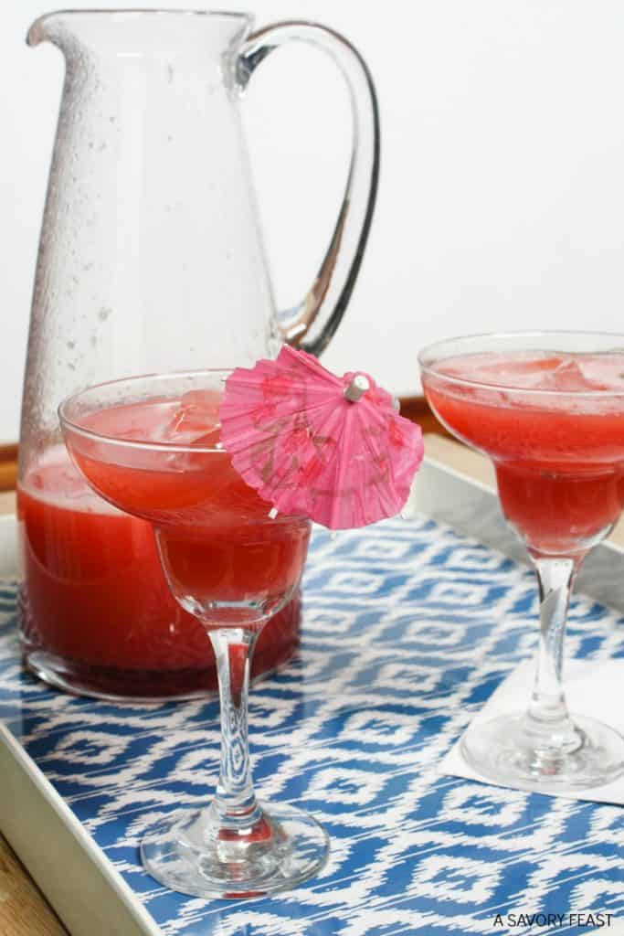 Strawberry Watermelon Agua Fresca from A Savory Feast