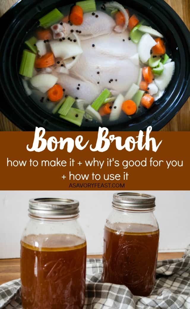 Curious about bone broth? This nutritious broth is SO good for you! Learn how to make bone broth, why it's good for you and how you can use it in your everyday cooking.