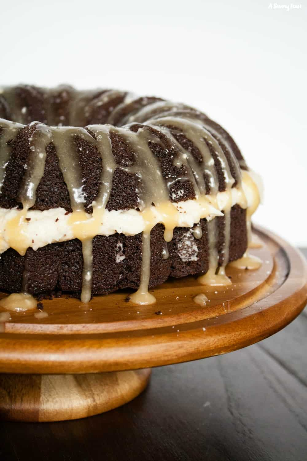 Salted Caramel Chocolate Bundt Cake is a stunning dessert for any occasion.