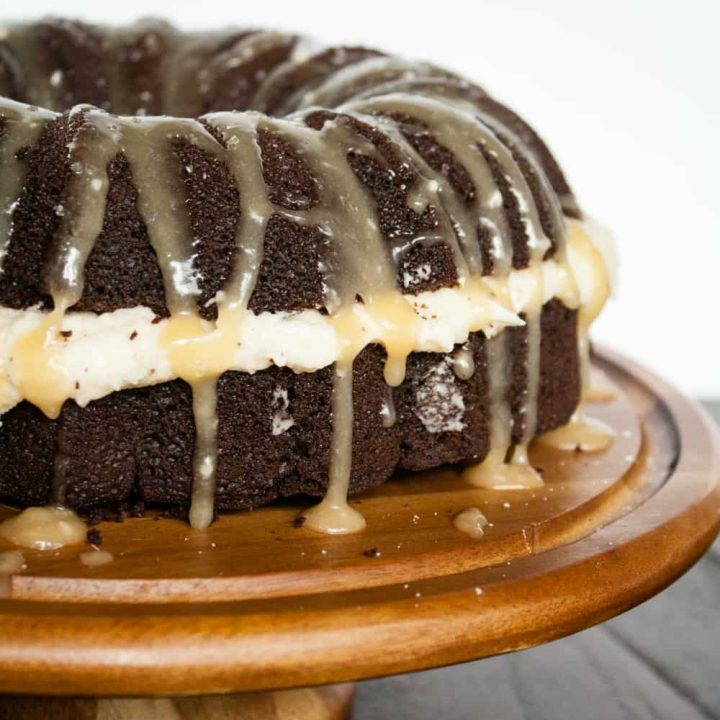 Salted Caramel Chocolate Bundt Cake