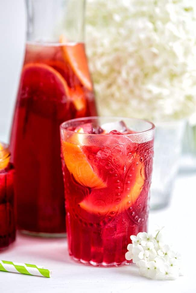 Hibiscus and Redcurrant Iced Tea from Supergolden Bakes