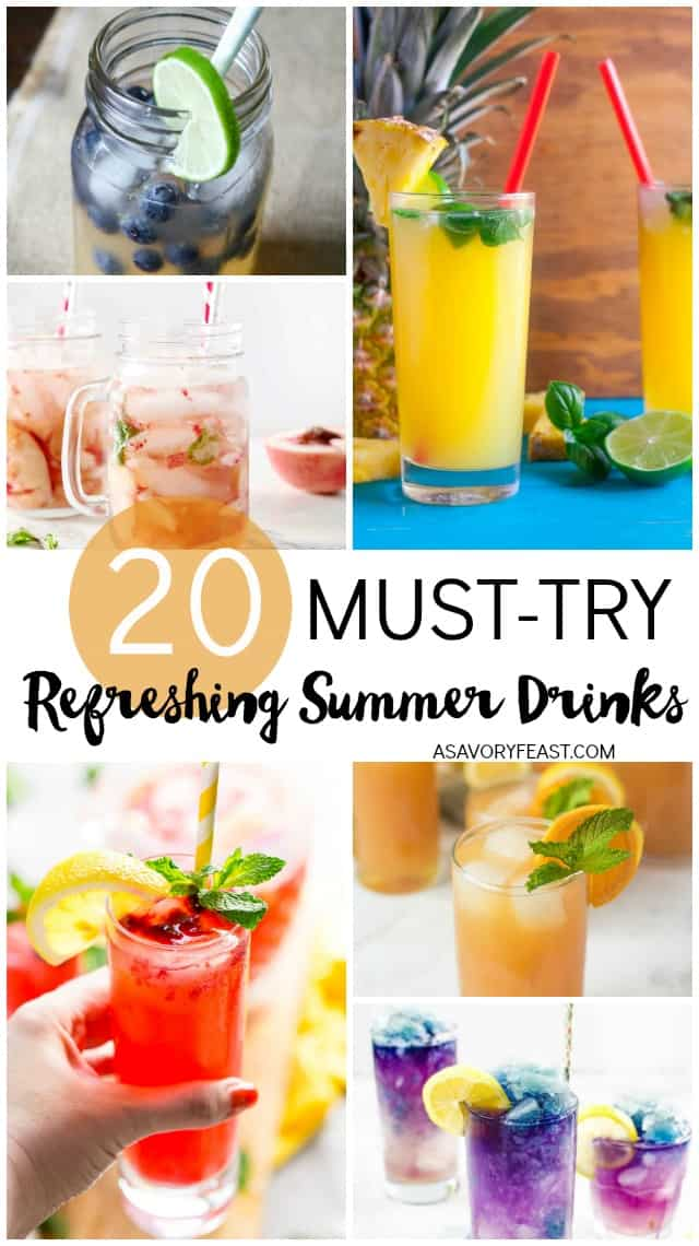 These refreshing summer drinks are just what you need to beat the heat. Cool off with a lemonade, or an agua fresca, or a slushie. Choose your favorite and enjoy it while soaking up some sun. These fun and creative drink ideas are perfect for enjoying poolside.