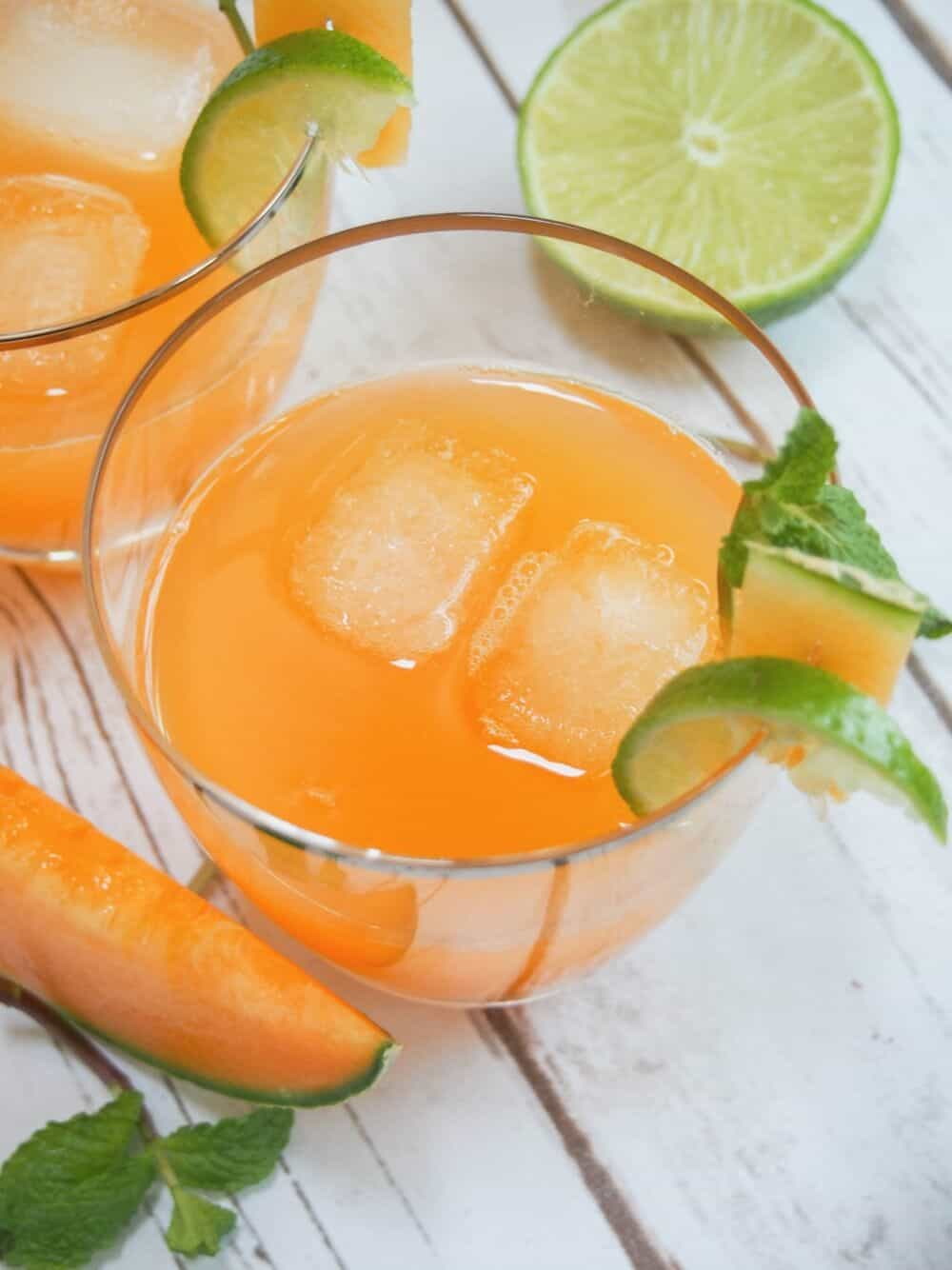 Cantaloupe Agua Fresca from Caroline's Cooking