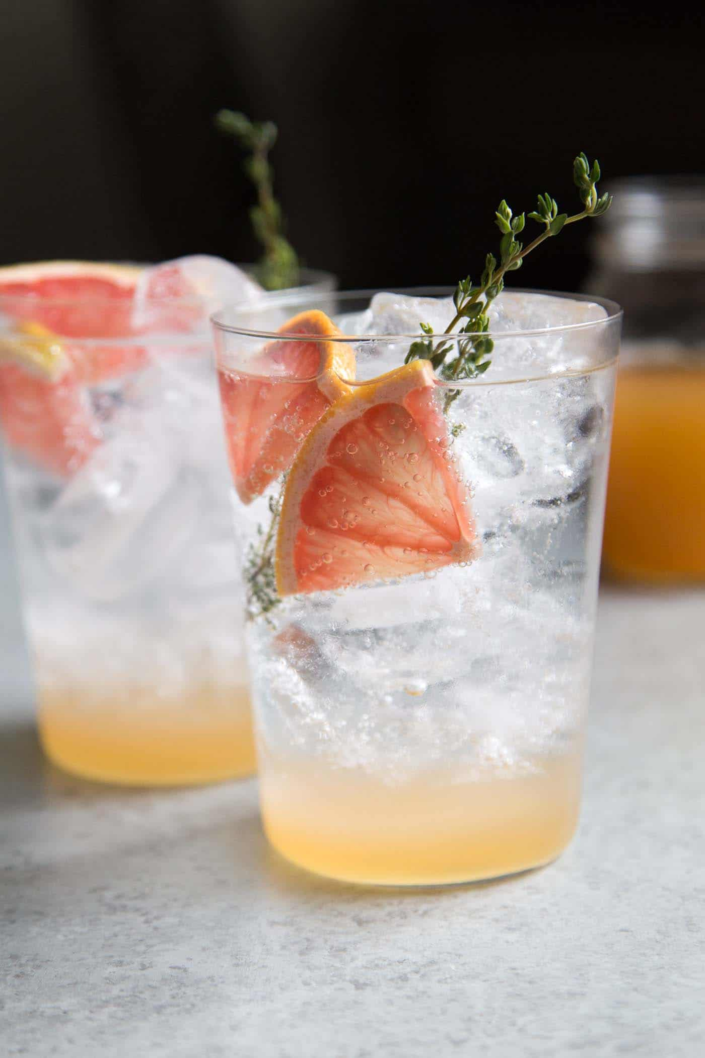 Grapefruit Shrub Mocktail from The Little Epicurean
