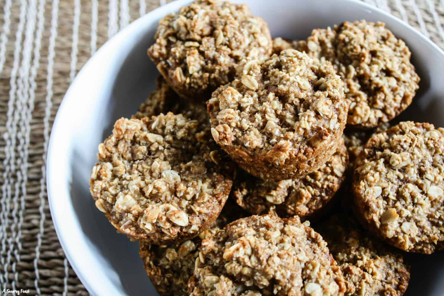 Healthy muffin recipe! Apple Oatmeal Muffins.