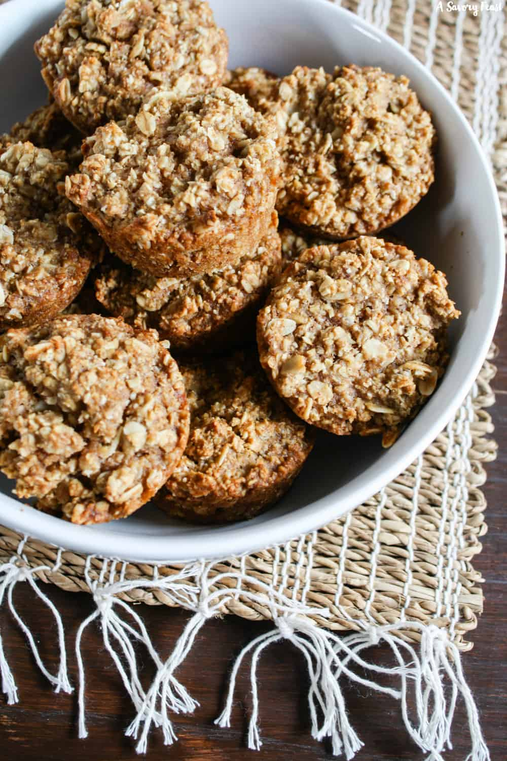 Healthy Apple Oatmeal Muffins for a hearty breakfast!