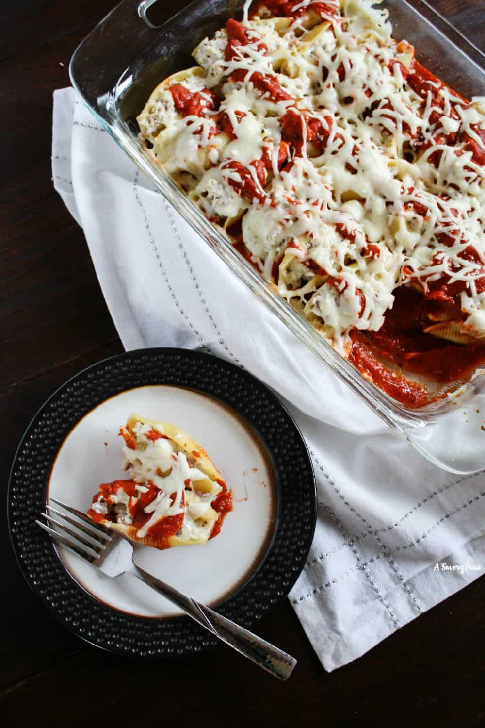Dinner Idea: Italian Ground Turkey Stuffed Shells