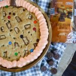Halloween Pumpkin-Shaped Cookie Cake
