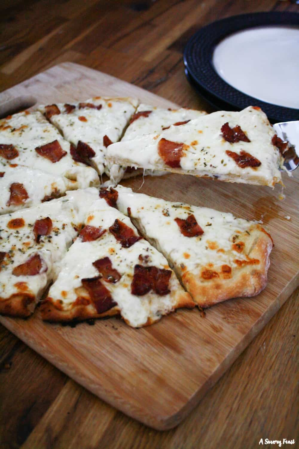 Bacon Alfredo Pizza recipe