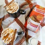 Caramel Coffee Cake Flavored Coffee with Whipped Cream and Caramel