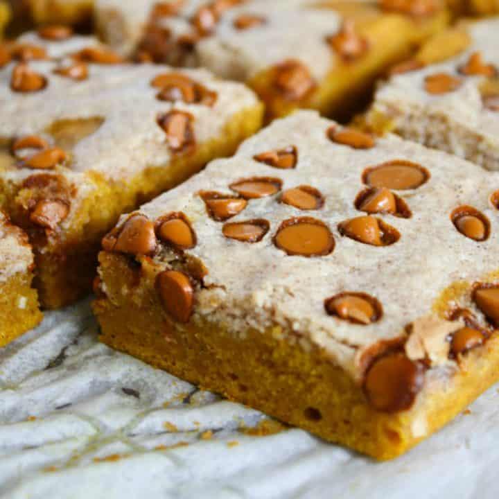 Cinnamon-Swirl Pumpkin Bars