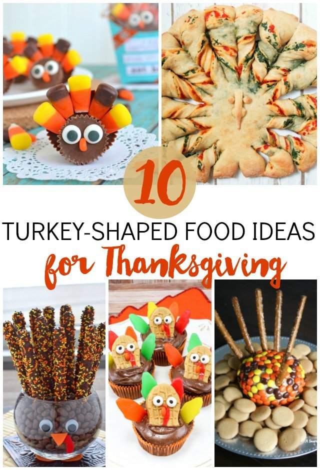 Get festive with your Thanksgiving menu! Here are 10 ideas for turkey-shaped foods from desserts to appetizers.
