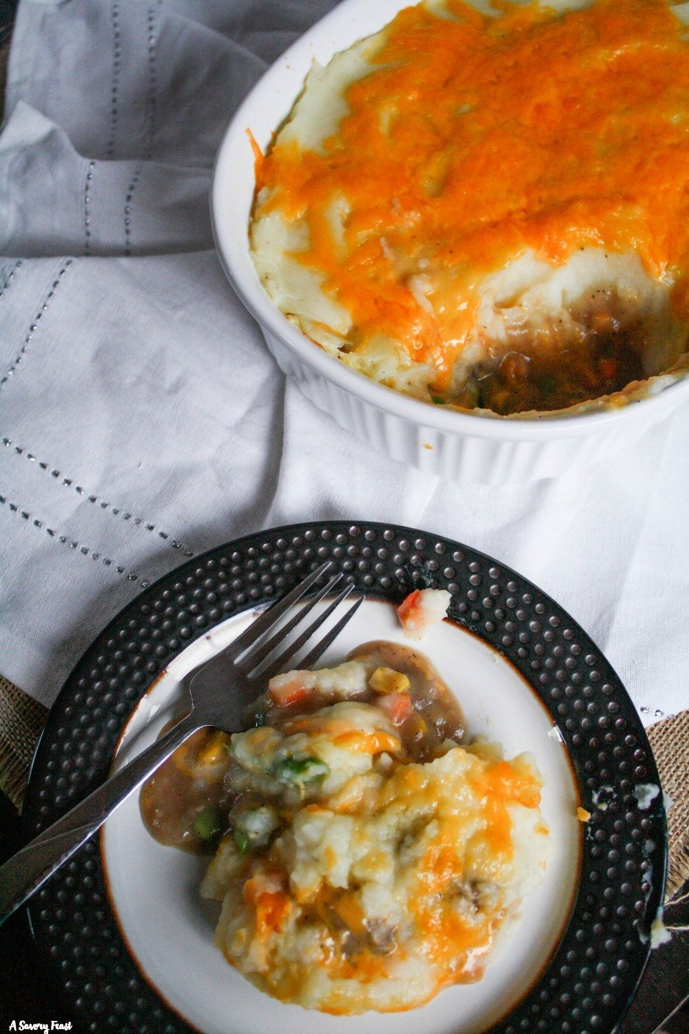 Try this delicious take on shepherd's pie for dinner tonight! Cheesy Steak Shepherd's Pie is made with steak instead of ground beef and packed with cheese. This recipe also uses beef bone broth for added nutrition.