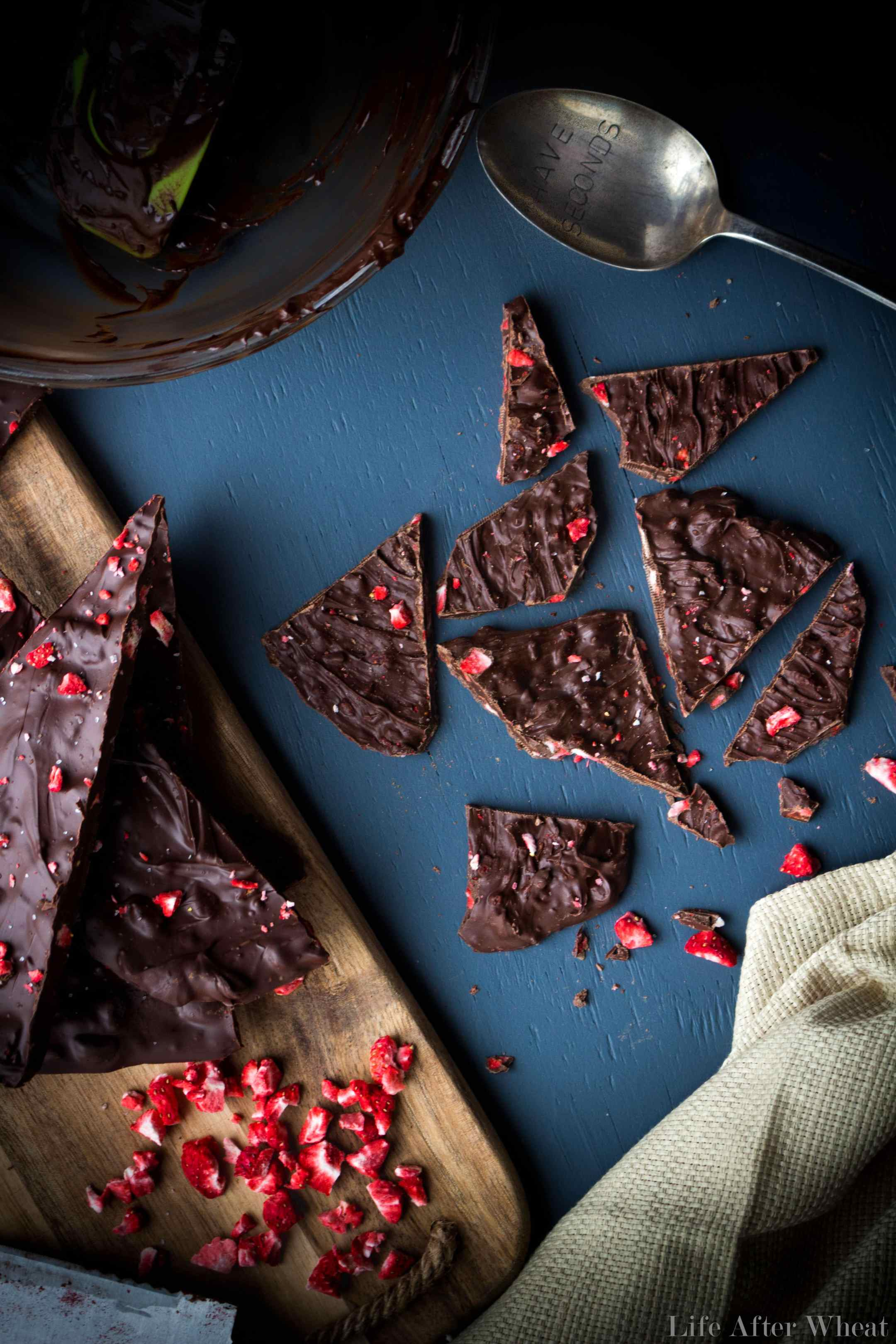 Chocolate Covered Strawberry Bark from There is Life After Wheat