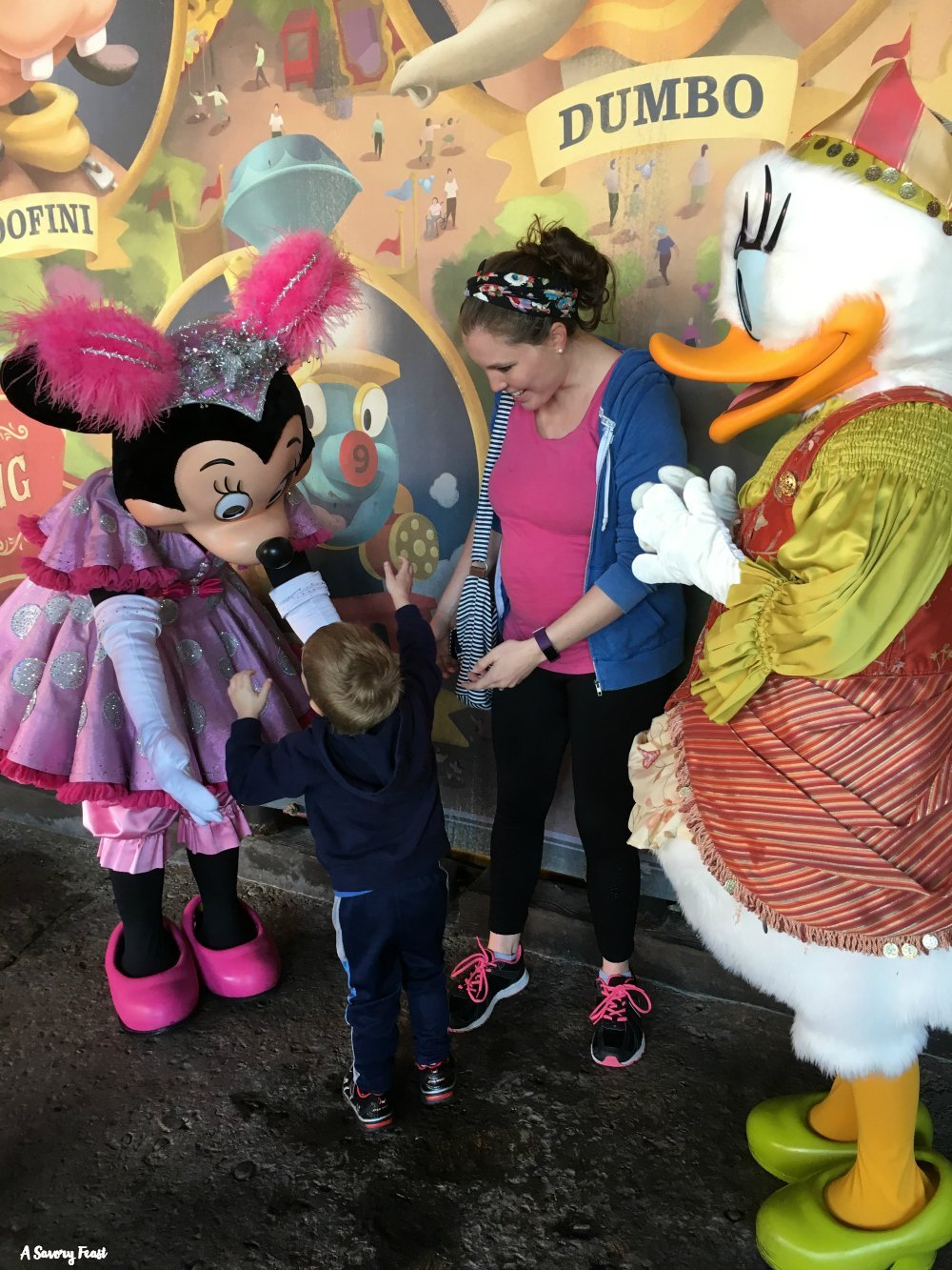 Meeting Disney Characters with a Toddler