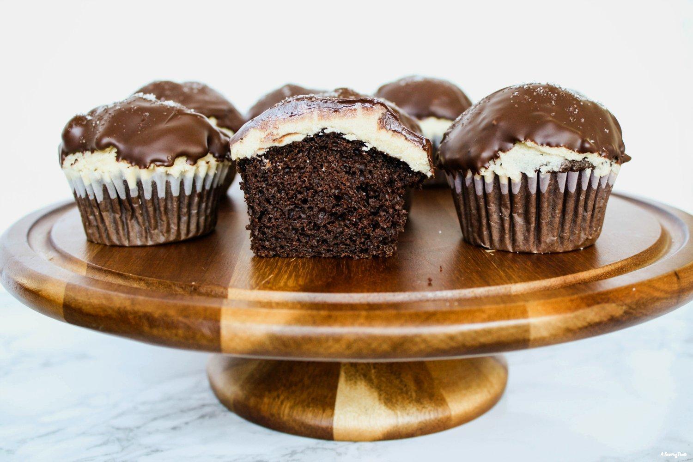 Salted Caramel Chocolate Dipped Cupcakes