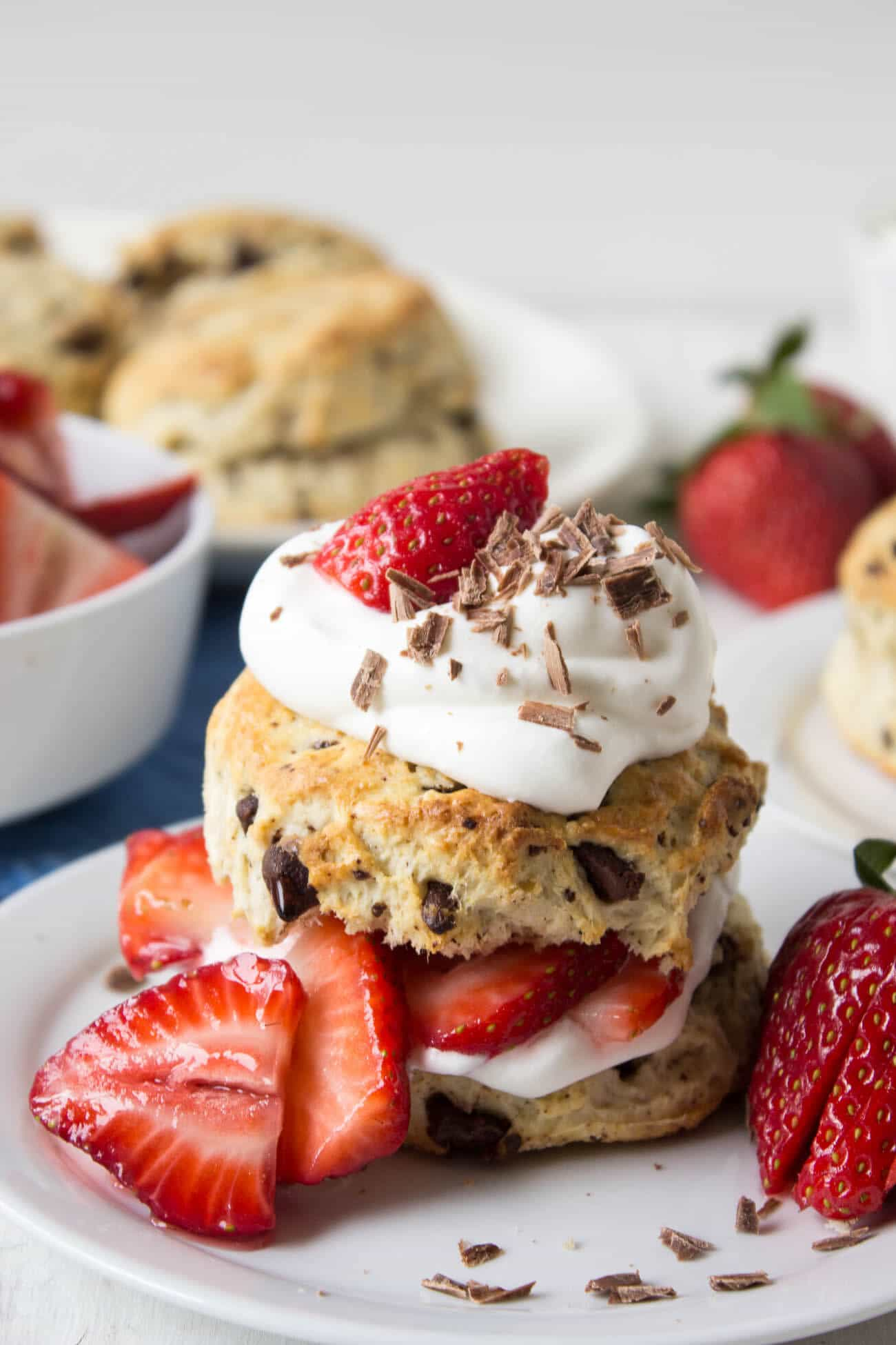 Strawberry Chocolate Shortcake from Beyond the Chicken Coop