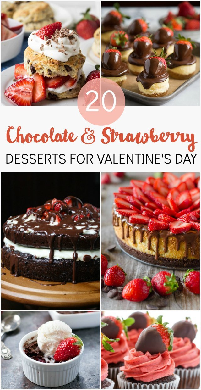 Chocolate and Strawberry is a winning dessert combo any time of year, but especially for Valentine's Day! These decadent treats are just what you need for a date night or Valentine's party. You will be drooling at this collection of chocolate and strawberry treats! You'll find cheesecakes, layer cakes, cupcakes, panna cotta, donuts, shortcake and more.