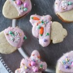 Easter White Chocolate Dipped Sugar Cookies #SpringSweetsWeek