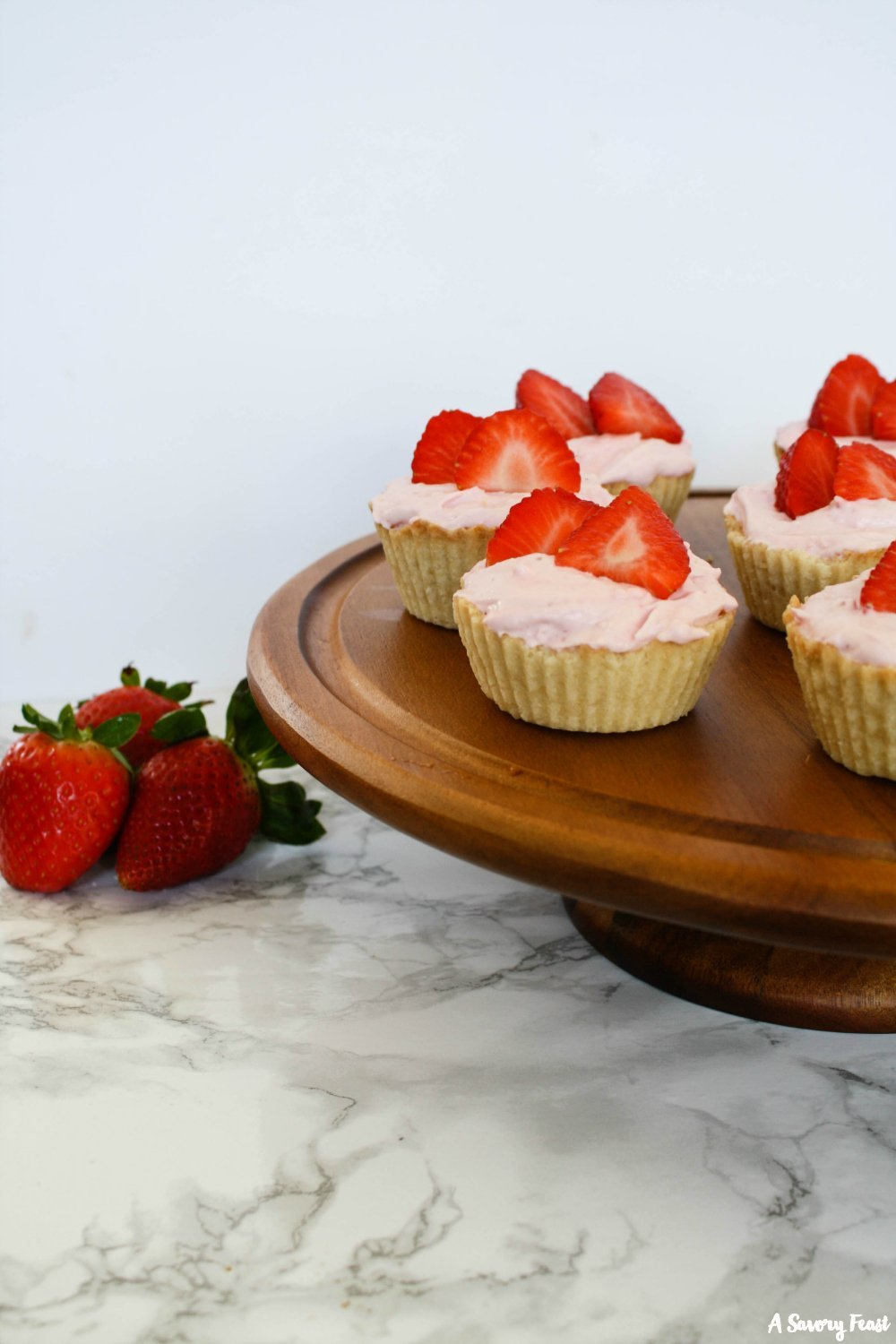 A sweet and simple dessert for Spring parties, showers, Easter gatherings and more. Mini Strawberry Mousse Tarts