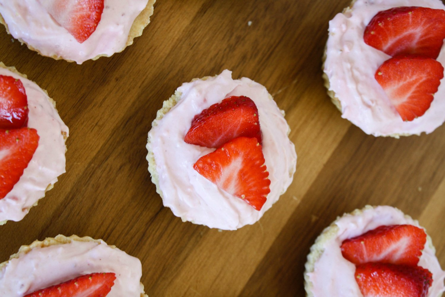 Mini Strawberry Mousse Tarts dessert for Spring