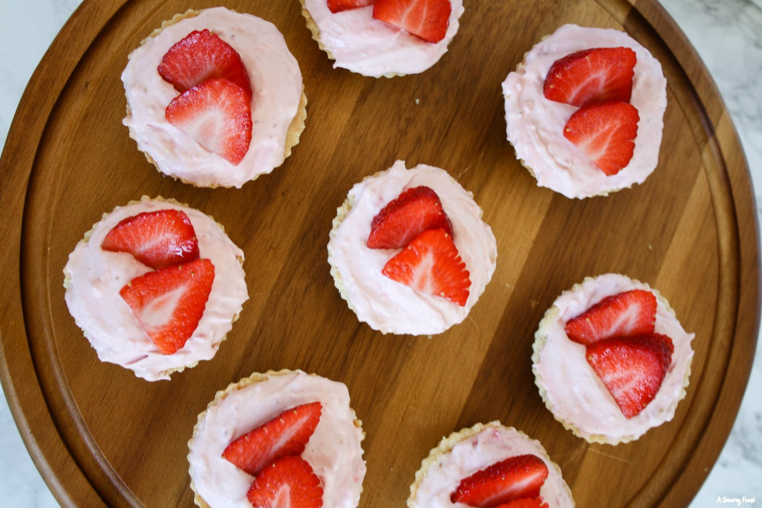Mini Strawberry Mousse Tarts