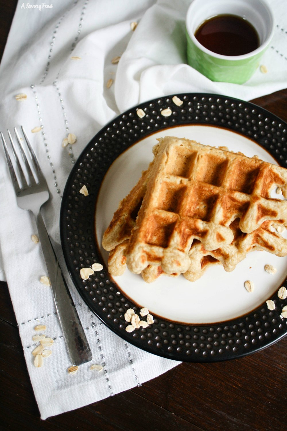 Hearty Oatmeal Waffles are a wonderful start to your weekend. This waffle batter is simple to mix up with ingredients you probably have in the house.