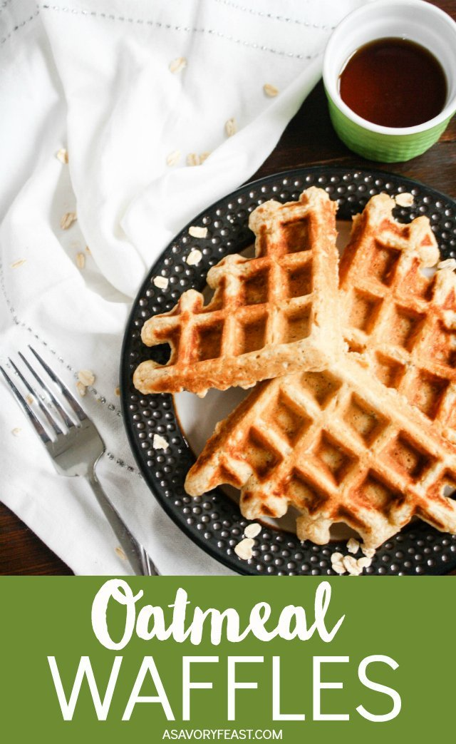 Hearty Oatmeal Waffles are a wonderful start to your weekend. This waffle batter is simple to mix up with ingredients you probably have in the house. You'll love the flavor and texture of these delicious waffles. Easily make these waffles sugar free, dairy free and/or gluten free if you would like!