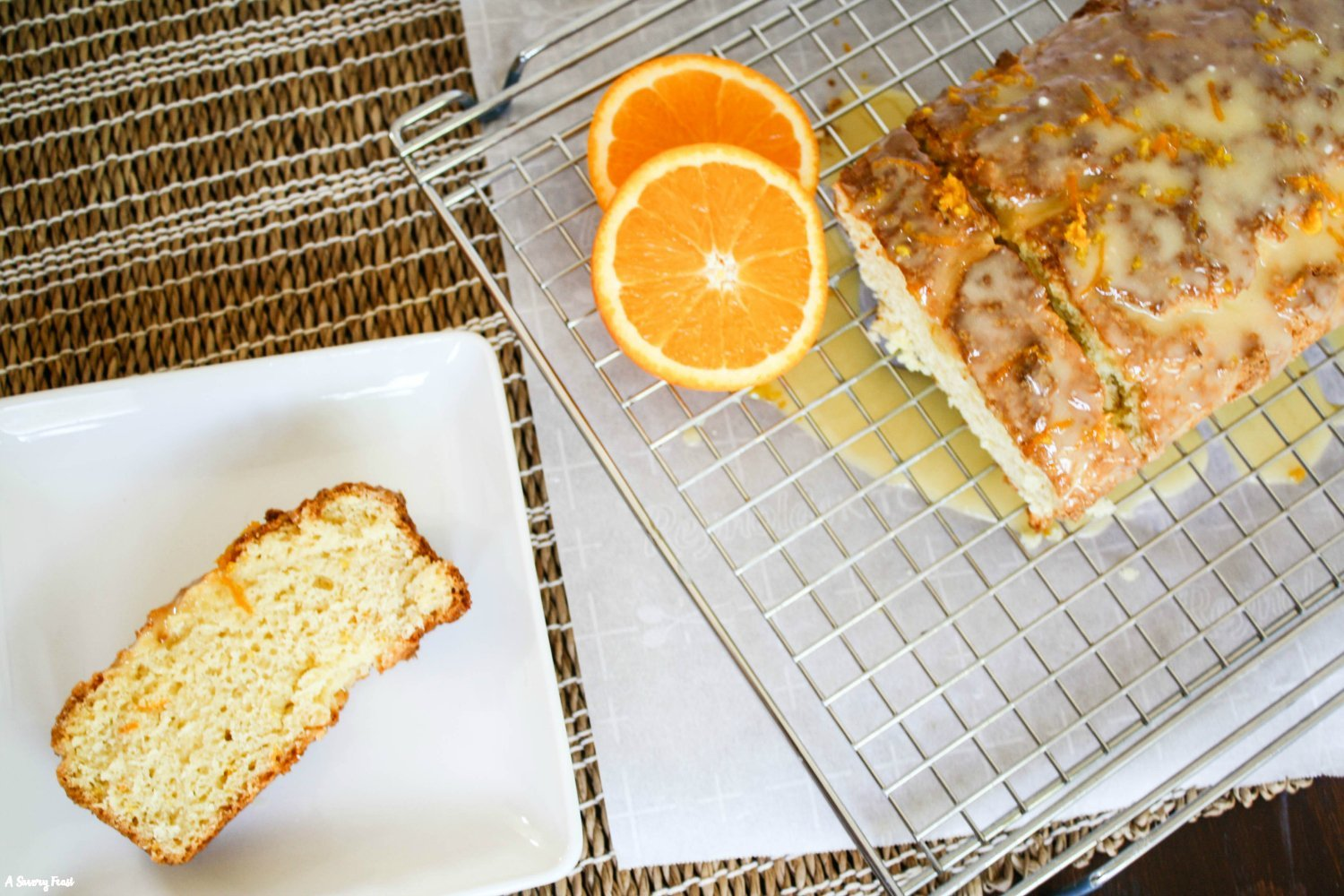 Orange Cream Cheese Loaf Cake dessert recipe